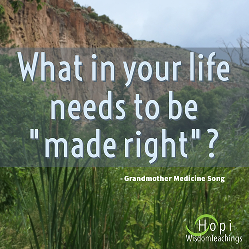 """What in your life needs to be """"made right?"""""""